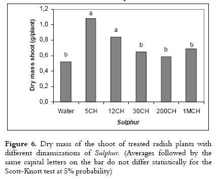 Effect of the Homeopathic Solution Sulphur on the Growth and Productivity of Radish 7