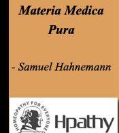 hahnemann materia medica pu