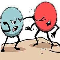 f bacteria fight