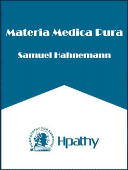Materia Medica Pura – Samue