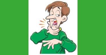 stock illustration sore throat