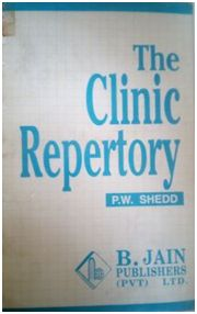 The Clinic Repertory by P.W. Shedd. M.D. is reviewed by Dr Praveen DV. 1