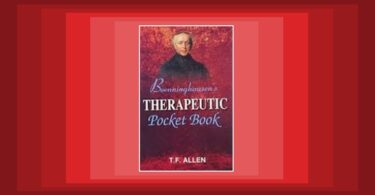 Book Review - Boenninghausen's Therapeutic Pocket-Book 1