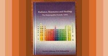 Radiance, Resonance and Healing: The Homeopathic Periodic Table by David Johnson, CCH is reviewed by Vatsala Sperling. 2